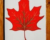 Maple Leaf Blank Greeting Card
