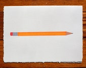 Pencil Blank Greeting Card