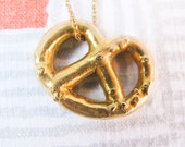 Solid Brass Pretzel Necklace