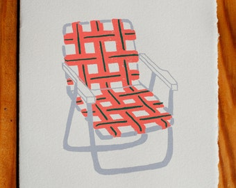 Lawn Chair blank greeting card