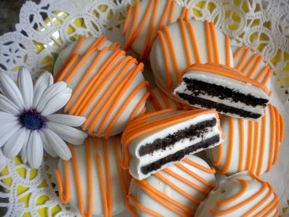 Items similar to Orange Chocolate Covered Oreos Cookies ...