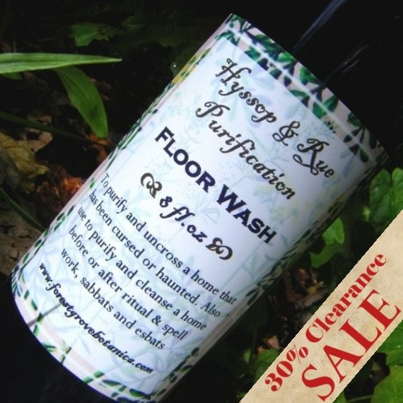 Hyssop And Rue Purification Floor Wash To Purify And Uncross