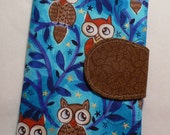 Made to Order, Night Owl, Kindle Cover, Ereader cover, Book Style, Kindle Touch Cover, Kindle Fire Cover,