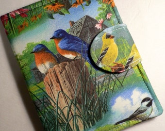 Kindle Paperwhite Cover, Kindle Cover, eReader Cover Book Style Blue Birds