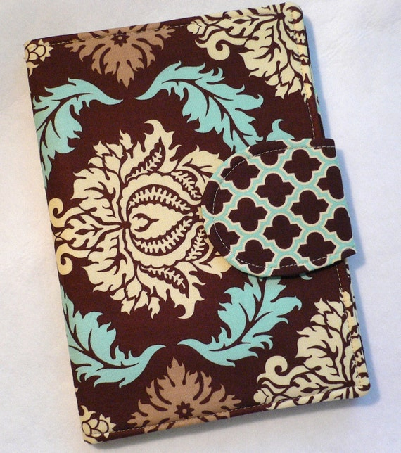 Kindle cover, eReader Cover Book Style Aviary 2 Damask Bark