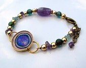 On Hold For lrellis1: Original Illustration of a Healthy Lymphocyte. Bracelet. Art. Jewelry.