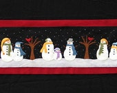 Snowman Table Runner Wool Applique PATTERN