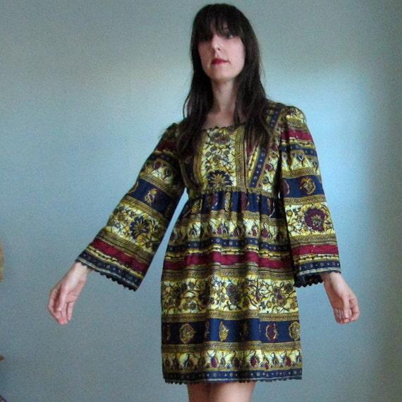 Tribal Flower  Babydoll Dress
