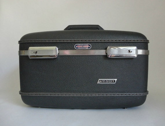 graphite gray...VINTAGE american tourister carry on LUGGAGE CASE
