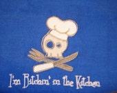 KitchenTowel Skully - Reserved for BIshizaki