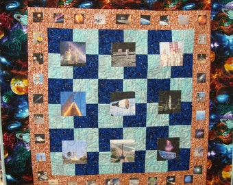 A Space Frontier Quilt Wallhanging or Throw