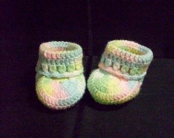 Rainbow Baby Booties