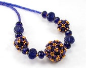 PRICE REDUCED 25 PERCENT Handcrafted Purple Necklace