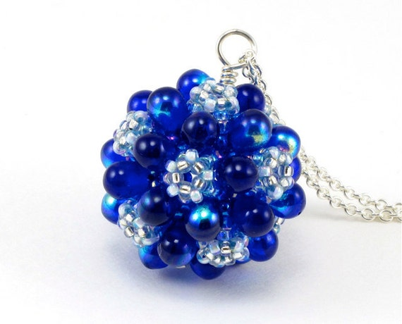 PRICE REDUCED 25 PERCENT Handcrafted Deep Blue Pendant