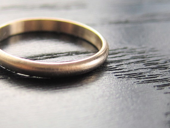 Reserved Listing for Lars and Katie - Recycled 14k Yellow Gold Band Simple Modern Brushed Wedding Stacking Ring 2mm x 1mm