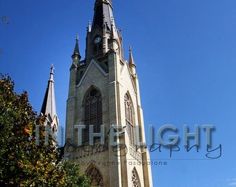 CLEARANCE Notre Dame Sacred Heart Basilica - 8x10 Fine Art Photo matted to 11x14