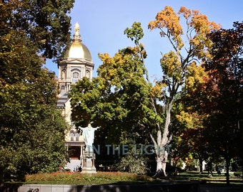 Golden Dome at University of Notre Dame in the Fall - Fine Art Photography