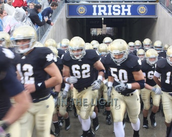 Notre Dame Football Banners In The Tunnel Fine Art