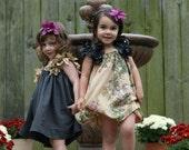 Flower Sleeve Pretty Little Fairy Flower Girl Dress~Bohemian Baby Child Dress~Little Girl Formal Dress~Whimsical Dress~Girl's Boho Dress~Eco