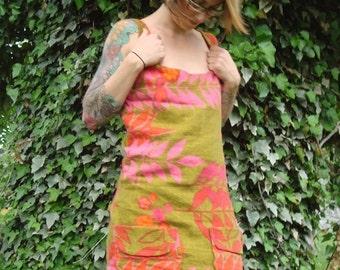 Floral Top|Scoop Neck|Sleeveless Shirt|Shirt with Pockets|Fitted Top|Women Shirt|Tank Top|Vintage Shirt|Summer Shirt|Eco Shirt|Printed Shirt