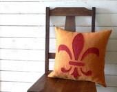 Tutorial, reverse applique fleur de lis pillow, PLUS design tips, PDF