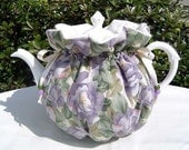 Tea Cozy for 6-8 Cup Teapot Insulated LILAC BLOSSOMS Tea Pot Tea Cozy Cosy Also Available in 1-2 Cup and 2-4 Cup Sizes, Upon Request