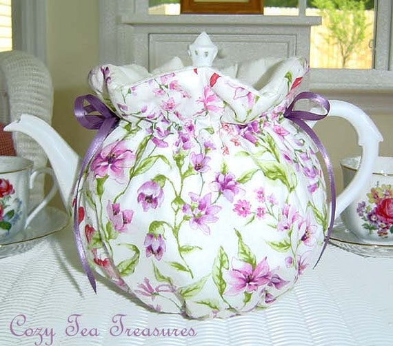Tea Cozy for 6-8 Cup Teapot Insulated SPRING MEADOW Tea Pot Tea Cozy Cosy  Also Available in 1-2 Cup and 2-4 Cup Sizes, Upon Request