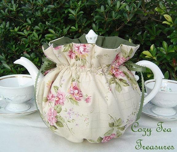 Tea Cozy For 6 8 Cup Teapot English Cottage Reversible