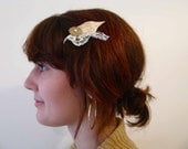 Lace and Flowers Hair Clip