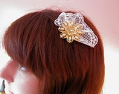 Vintage Lace and Flower Hair clip