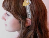 Bronze Charm and Lace Headband