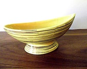 "Vintage Midcentury McCoy ""Harmony"" Planter:  Yellow and Brown"