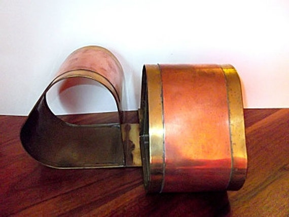 Vintage Art Deco Chase Style Brass and Copper Bookends