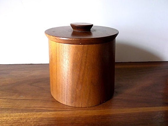 Vintage Walnut Wood Canister:  Gladmark Burbank California