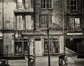 Night Street - Edinburgh, Scotland - Silver Art Print, Wall Art, Photography, Wall Decor