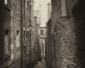 Street Close - Edinburgh, Scotland - Silver Art Print, Wall Art