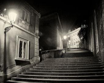 Steps of  Prague - Silver Art Print - Czech Republic - Fine Art Photography -  Wall Art