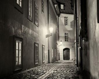 Streets of  Prague #2 - Silver Art Print - Czech Republic - Fine Art Photography -  Wall Art