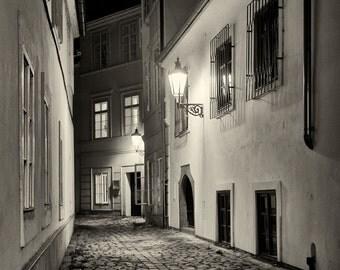 Streets of  Prague - Silver Art Print - Czech Republic - Fine Art Photography -  Wall Art