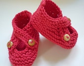 KNITTING PATTERN  Baby shoes with Crossover strap BROOKE Instant Download