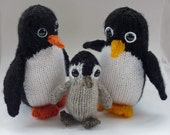 Knitting Pattern Penguin Family pdf Instant Download