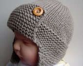 PDF Knitting Pattern Aviator Hat Baby to Child sizes REGAN Immediate Download