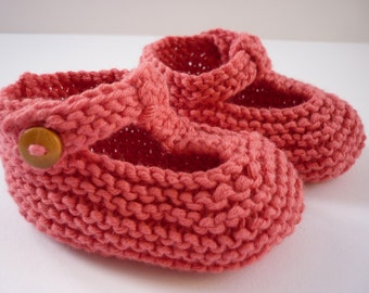 Baby Booties Knitting Pattern, Baby Shoes PDF Knitting Pattern, Knit Baby Booties Download - QUINN
