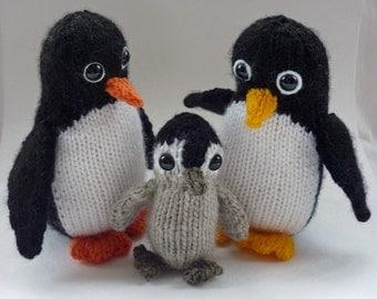 Penguin Knitting Pattern, PDF Knitting Pattern, Penguin Toy Pattern, Knit Penguin Pattern, Knit Animal Download, Knitted Penguin PDF