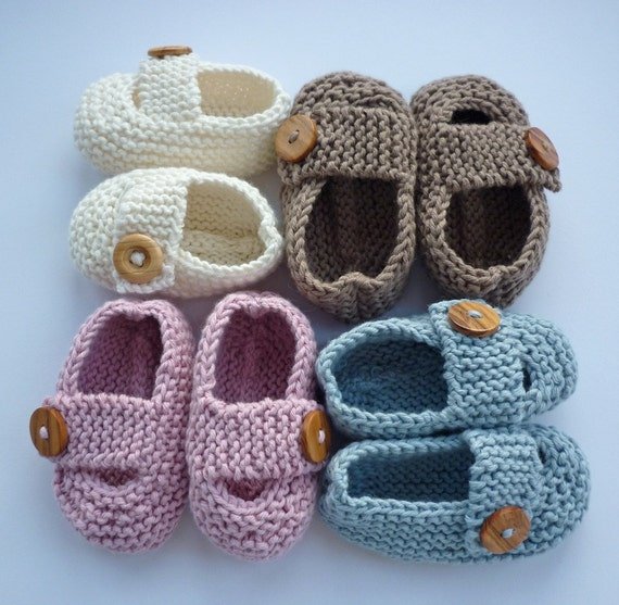 Knitting Pattern For Baby Boy Shoes : Baby Booties Knitting Pattern, Baby Shoes PDF Knitting Pattern, Knit Baby Sho...