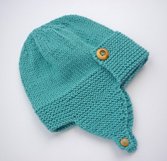 Knitting Pattern For Baby Pilot Hat : Knitting pattern pdf Baby Aviator hat by LoveFibres on Etsy