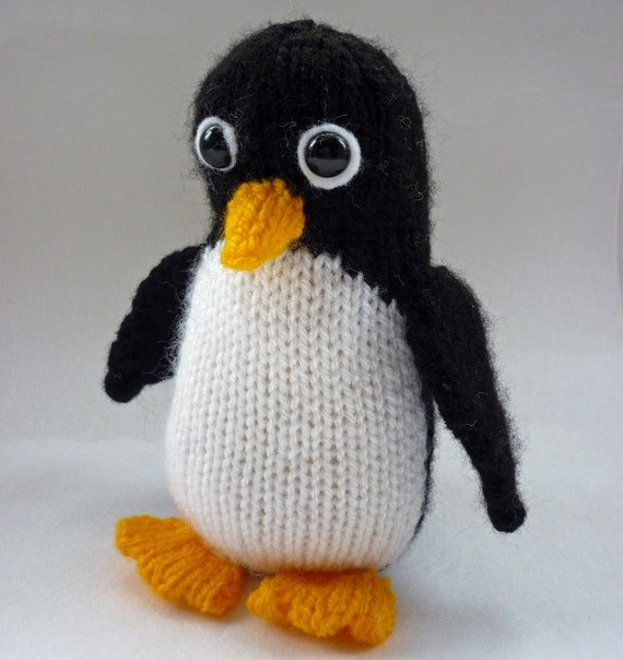 Knitting Pattern For Penguin : Penguin Knitting Pattern, PDF Knitting Pattern, Penguin ...