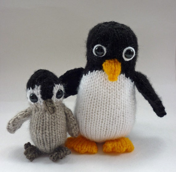 Penguin Knitting Pattern, PDF Knitting Pattern, Penguin Toy Pattern, Knit Pen...
