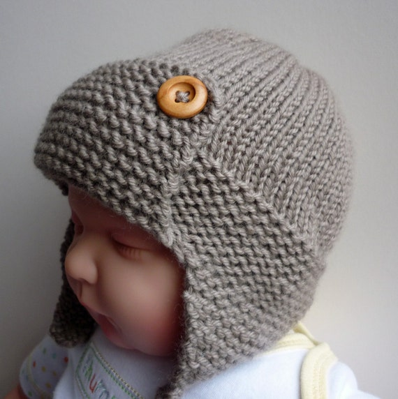 Knitting Pattern Sizes For Babies : Aviator Hat Knitting Pattern Baby to Child sizes pdf by LoveFibres