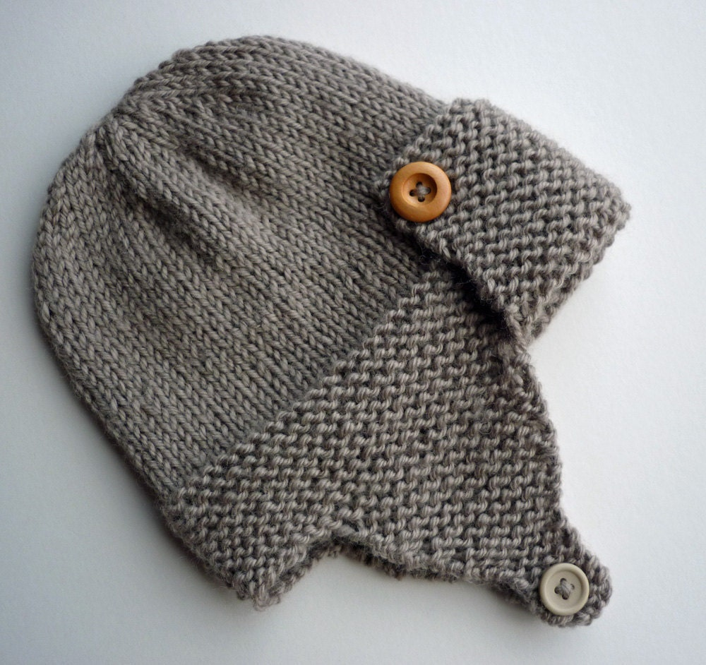 Knitting Pattern, Aviator Hat PDF Pattern, Easy Knit Baby ...